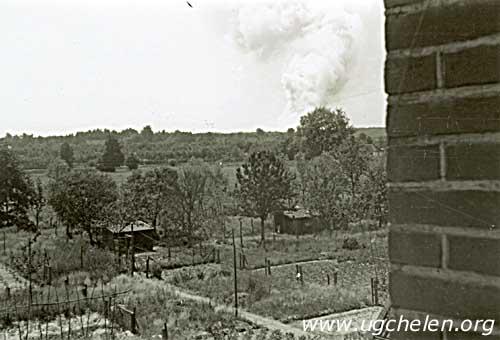 Brand richting Spelderholt / Wapenberg, collectie Ad Hartman.
