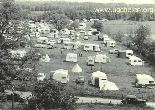 Overzicht over de camping vanuit de schoorsteen, collectie Hemmie Geurts.