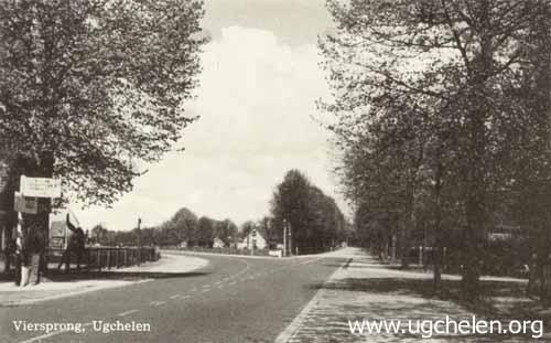 'De Viersprong' Brouwersmolenweg Hoenderloseweg Mettaweg en Keienbergweg, collectie Gert Woutersen.