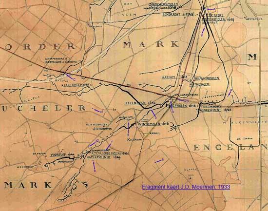 deel van de kaart van Moerman (1933)