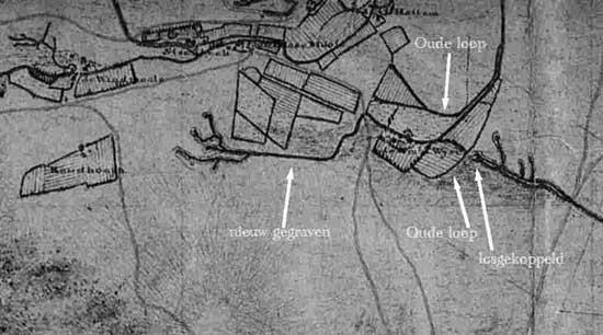 deel van de kaart van de Man (1807)