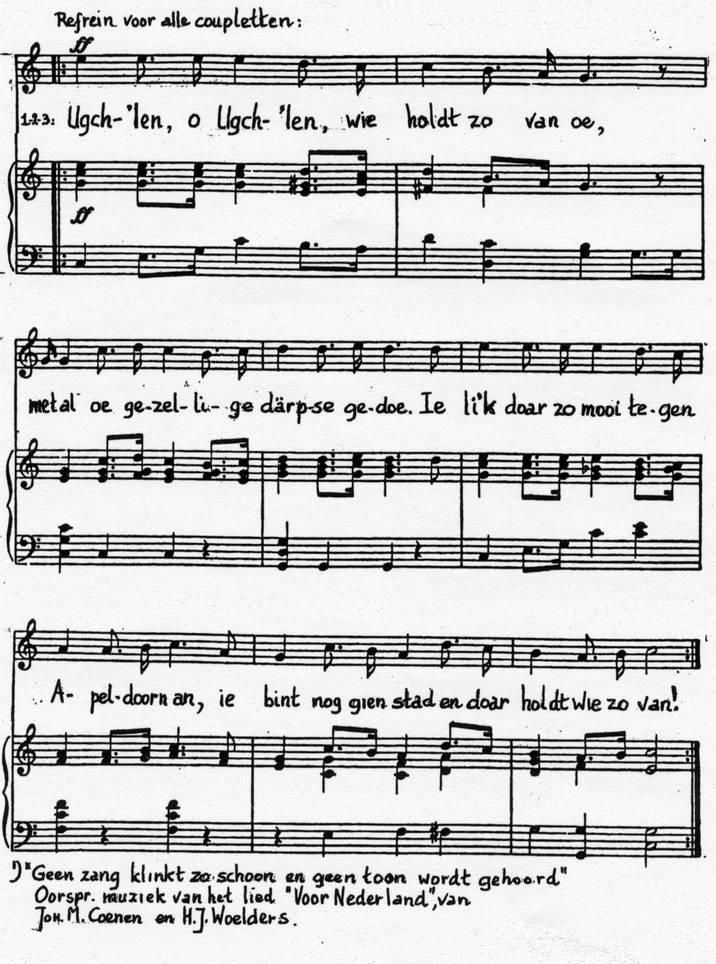 Het Ugchelse Volkslied, muziekblad 2